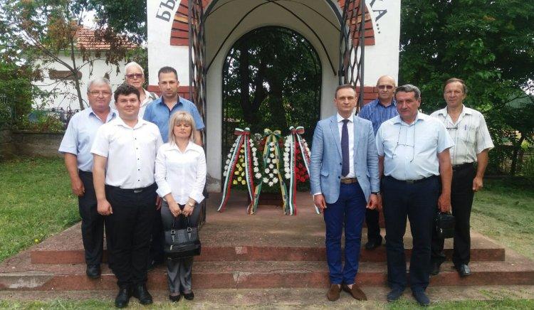 """Валентин Ламбев участва в честването на 149 г. от битката в местността """"Канлъ дере"""""""